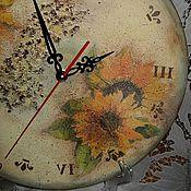 """Для дома и интерьера ручной работы. Ярмарка Мастеров - ручная работа Часы """"Подсолнухи"""". Handmade."""
