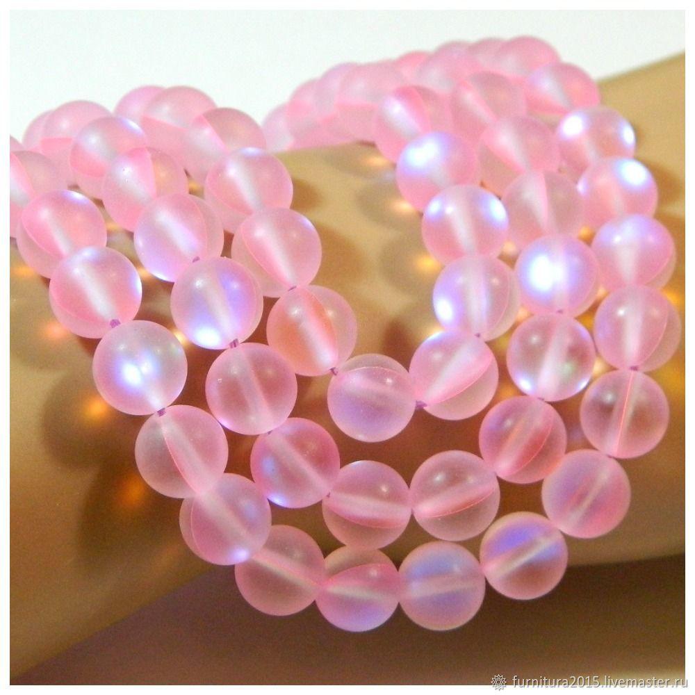 Бусины опал синтетический розовый. шт, Бусины, Саратов,  Фото №1