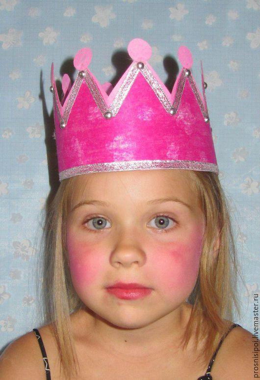 Детские карнавальные костюмы ручной работы. Ярмарка Мастеров - ручная работа. Купить Корона для принцессы. Handmade. Фуксия, корона для принцессы
