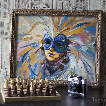 Pictures and panels handmade. Livemaster - original item Venetian mask. Buy a painting with a mask. mask. Handmade.