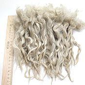 Материалы для творчества handmade. Livemaster - original item Hair for dolls from 17-21 to  cm (white, natural, unwashed). Handmade.