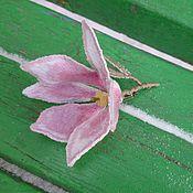 """Украшения handmade. Livemaster - original item Embroidered brooch """"Magnolia soulangeana"""". Handmade."""