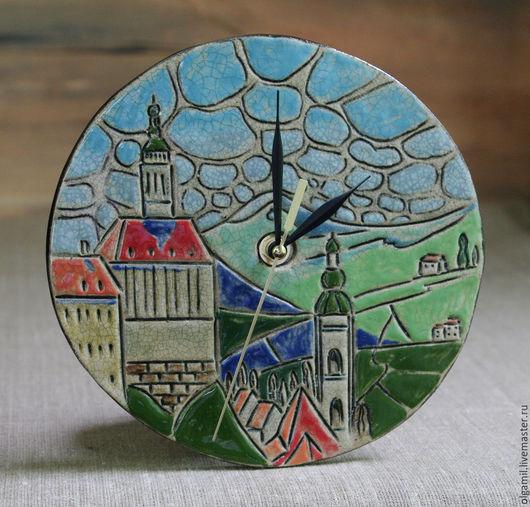 Часы для дома ручной работы. Ярмарка Мастеров - ручная работа. Купить Настенные часы. Handmade. Разноцветный, часы, часы кухонные