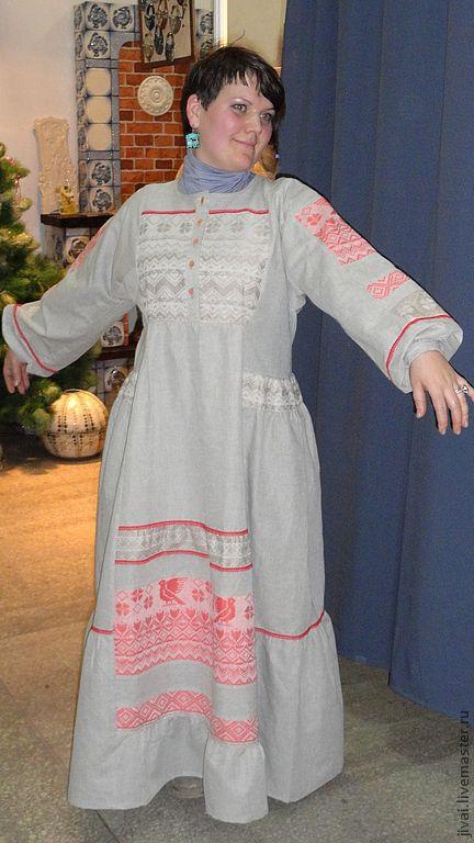 Этническая одежда ручной работы. Ярмарка Мастеров - ручная работа. Купить платье ЛАДУШКА. Handmade. Бежевый, платье, кантри стиль