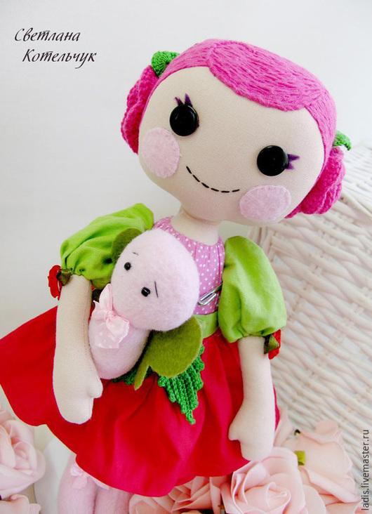 Сказочные персонажи ручной работы. Ярмарка Мастеров - ручная работа. Купить Кукла Лалалупси. Handmade. Фуксия, лалалупси купить, холофайбер