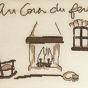 Картины и панно ручной работы. Ярмарка Мастеров - ручная работа Годами созданный очаг...Шутливый, вышитый крестом , оберег. Handmade.