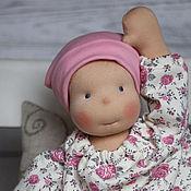 Куклы и игрушки ручной работы. Ярмарка Мастеров - ручная работа Полина Шебби (47 см)  - кукла вальдорфская для девочки. Handmade.