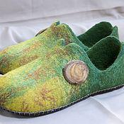 """Slippers handmade. Livemaster - original item Женские валяные тапочки """"Осенние настроения"""". Handmade."""