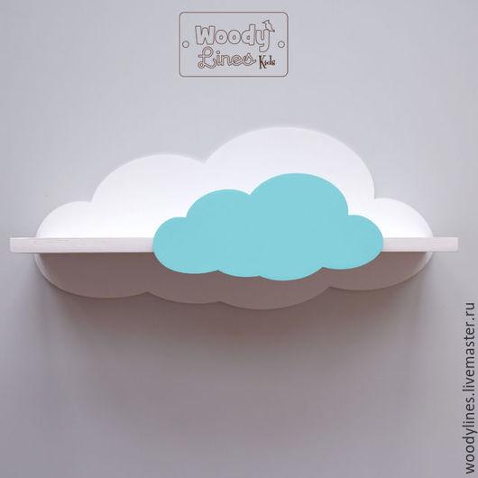 Детская ручной работы. Ярмарка Мастеров - ручная работа. Купить Полка Облачная L. Handmade. Бирюзовый, облака, в детскую