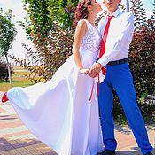 Свадебный салон ручной работы. Ярмарка Мастеров - ручная работа Свадебное платье 022. Handmade.