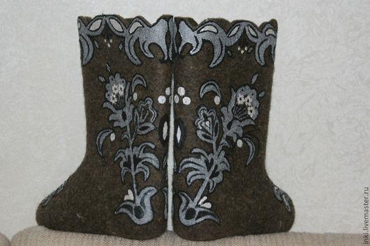 Обувь ручной работы. Ярмарка Мастеров - ручная работа. Купить Просторы. Handmade. Темно-серый, ручная роспись, роспись акрилом