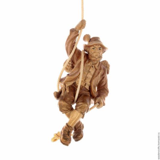 Элементы интерьера ручной работы. Ярмарка Мастеров - ручная работа. Купить Скалолаз из дерева. Handmade. Бежевый, спорт, дерево