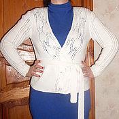 Одежда ручной работы. Ярмарка Мастеров - ручная работа Белая кофточка. Handmade.