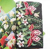 Сумки и аксессуары ручной работы. Ярмарка Мастеров - ручная работа Цветы Африки, футляр для очков с вышивкой очки футляр вышивка цветы. Handmade.