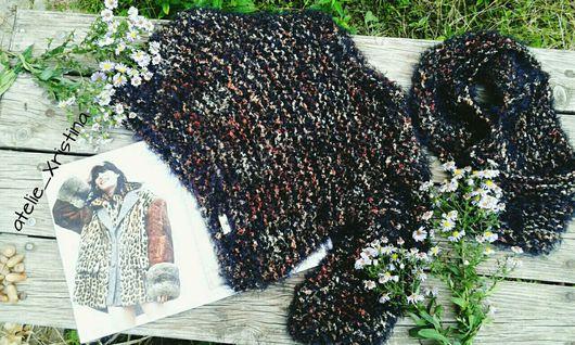 """Блузки ручной работы. Ярмарка Мастеров - ручная работа. Купить """"Чёрное кофе"""". Handmade. Вязаная блуза, вязаный свитерок"""