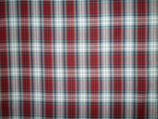 """Шитье ручной работы. Ярмарка Мастеров - ручная работа. Купить """"Шотландка"""" хлопок 100%. Handmade. Комбинированный, шотландка, ткани"""