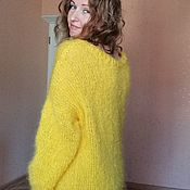 Одежда handmade. Livemaster - original item Long Mohair Sweater Mohair Dress. Handmade.