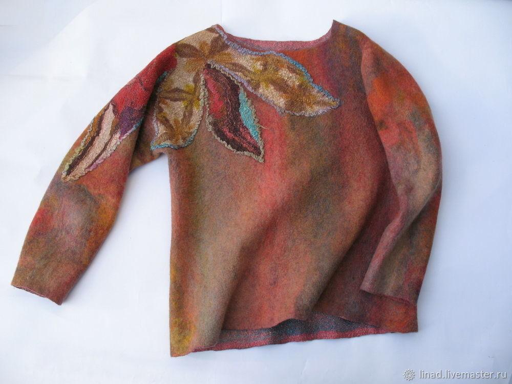 A sweater, jumper, sweatshirt felt 'Magic flower', Sweaters, Kherson,  Фото №1