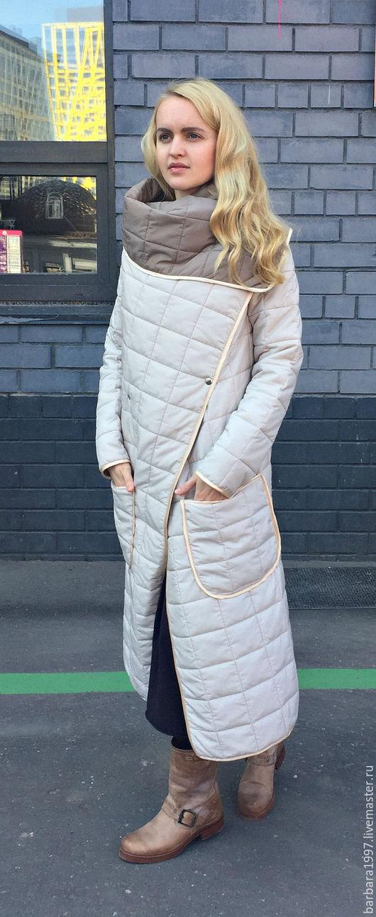 Верхняя одежда ручной работы. Ярмарка Мастеров - ручная работа. Купить Пальто СOZY двухстороннее MILK AND BEIGE. Handmade.