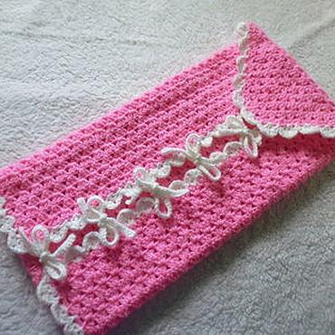 Works for children handmade. Livemaster - original item Knitted envelope for baby. Handmade.