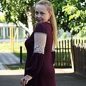 """Одежда ручной работы. Ярмарка Мастеров - ручная работа Нарядное платье """"Принцесса"""" бордо. Handmade."""