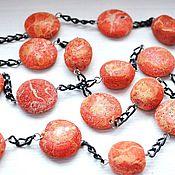 Украшения handmade. Livemaster - original item a set of coral. Handmade.