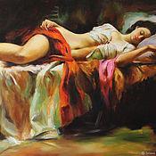"Картины и панно handmade. Livemaster - original item ""Спящая красавица"" картина маслом на холсте 60/90 см. Handmade."