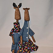 Куклы и игрушки ручной работы. Ярмарка Мастеров - ручная работа Лосики Вилли и Валли. Handmade.