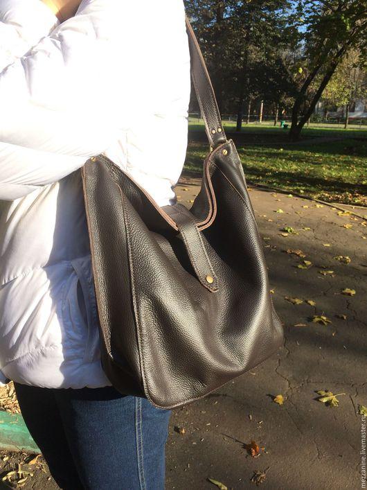 Женские сумки ручной работы. Ярмарка Мастеров - ручная работа. Купить Сумка-мешок с подкладом из натуральной кожи. Handmade. Сумка