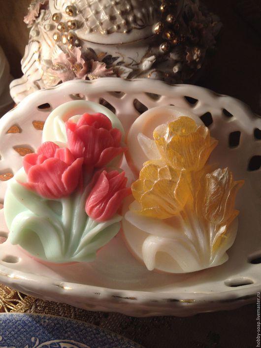 """Мыло ручной работы. Ярмарка Мастеров - ручная работа. Купить """"8 марта,"""" Сувенирное мыло ручной работы. Handmade."""