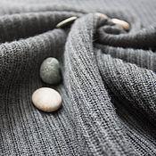 Одежда ручной работы. Ярмарка Мастеров - ручная работа Серый джемпер в рубчик с высоким воротником. Handmade.