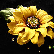 Украшения handmade. Livemaster - original item The colors of the skin.Decoration brooch pin YELLOW SUNFLOWER INA.. Handmade.