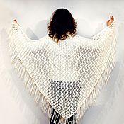 Аксессуары ручной работы. Ярмарка Мастеров - ручная работа вязанная ажурная шаль ручной работы нежность. Handmade.