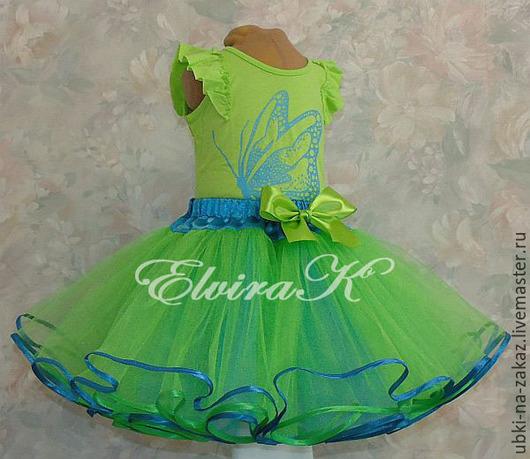 Одежда для девочек, ручной работы. Ярмарка Мастеров - ручная работа. Купить Пышная двусторонняя юбочка для девочки. Handmade. Фатиновая юбка
