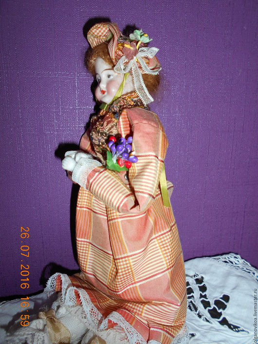 Коллекционные куклы ручной работы. Ярмарка Мастеров - ручная работа. Купить антик куколка хенд мэйд. Handmade. Бежевый, винтаж