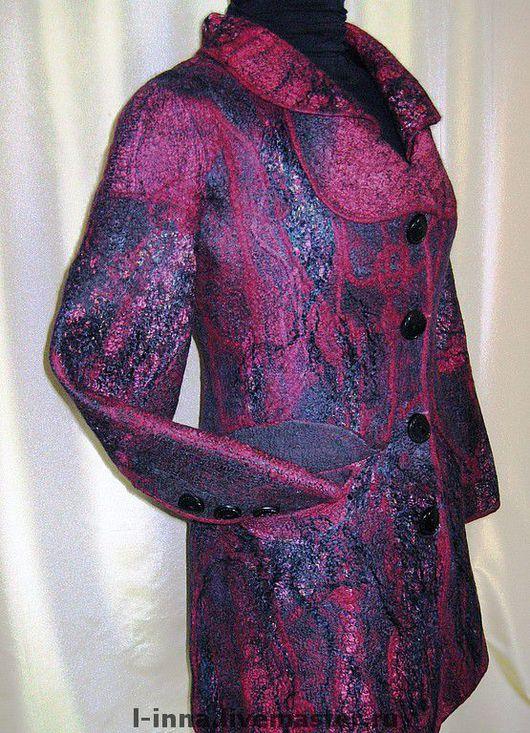 """Верхняя одежда ручной работы. Ярмарка Мастеров - ручная работа. Купить Полупальто валяное """"Вкус красного вина"""". Handmade."""