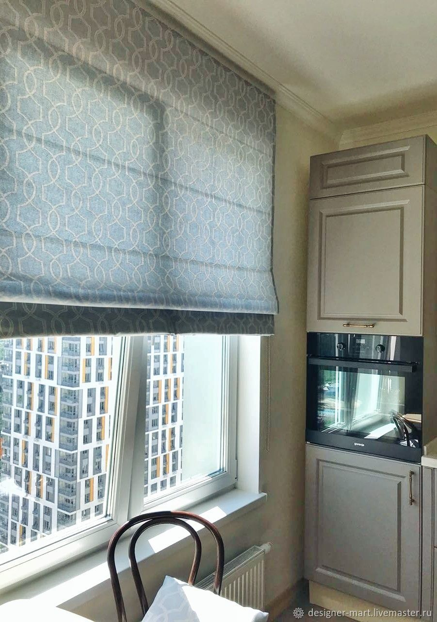 Roman blind made of cotton, Roman and roller blinds, Moscow,  Фото №1