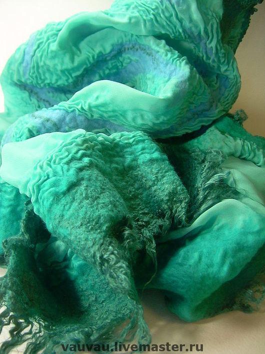 Шарфы и шарфики ручной работы. Ярмарка Мастеров - ручная работа. Купить Шарф Морская фея. Handmade. Подарок, валяный шарф