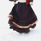 """Одежда ручной работы. Ярмарка Мастеров - ручная работа Зимняя юбка """"Белочка"""". Handmade."""