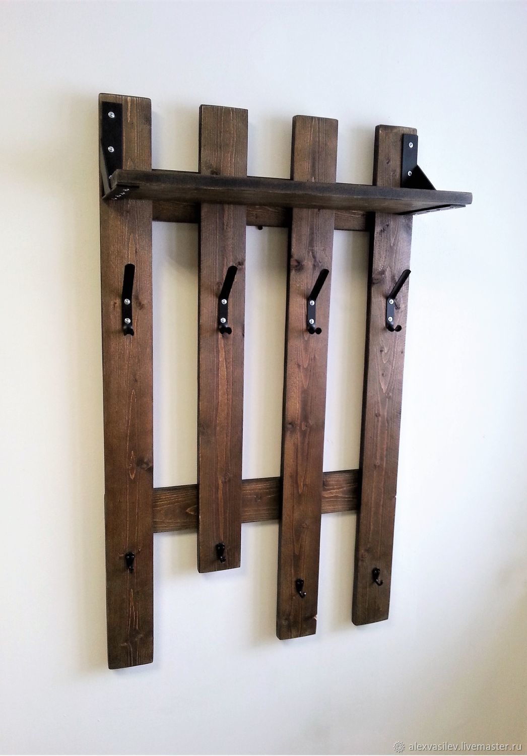 Clothes rack wall mounted with shelf 'Ragnar', Hanger, Moscow,  Фото №1