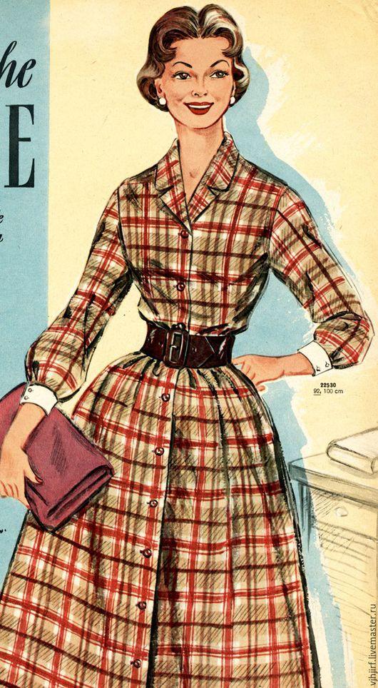 Шитье ручной работы. Ярмарка Мастеров - ручная работа. Купить Выкройки 50-х из журнала Praktischt mode 1957. Handmade.
