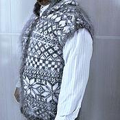 Одежда ручной работы. Ярмарка Мастеров - ручная работа Жилет с капюшоном орнамент. Handmade.