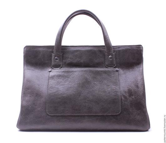 Цвет сумки тёмно-серый с серебряным эффектом!  Авторская линейка Pattern   Quality Handmade