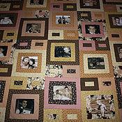 Для дома и интерьера ручной работы. Ярмарка Мастеров - ручная работа Лоскутное покрывало  с фотографиями -ретро. Handmade.