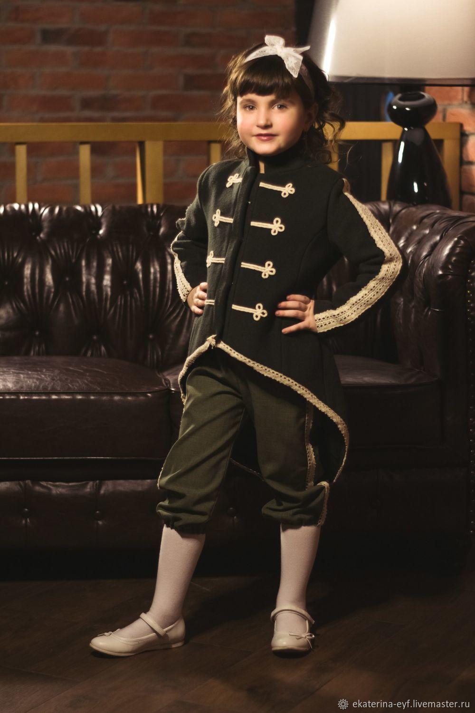 """Одежда для девочек, ручной работы. Ярмарка Мастеров - ручная работа. Купить Пальто """"Гусарское"""". Handmade. Весна, модницам"""