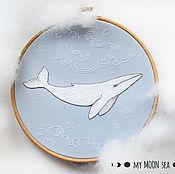 Картины и панно ручной работы. Ярмарка Мастеров - ручная работа Белый кит. Handmade.