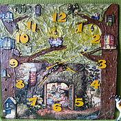 Для дома и интерьера handmade. Livemaster - original item Clock surround panel Fairy tea party. Handmade.