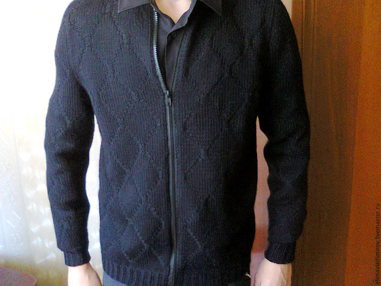 knitted men's jumper with zip, Mens jumpers, Nalchik,  Фото №1