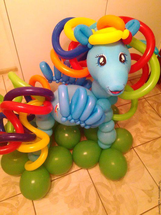 Праздничная атрибутика ручной работы. Ярмарка Мастеров - ручная работа. Купить Пони из шаров.. Handmade. Комбинированный, Праздник, подарок ребенку