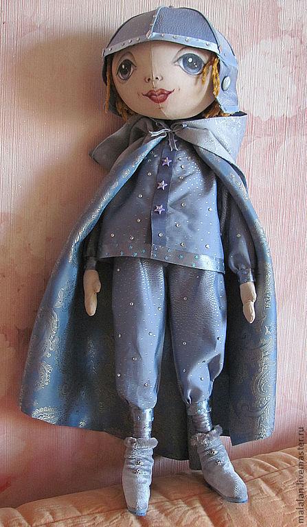 """Коллекционные куклы ручной работы. Ярмарка Мастеров - ручная работа. Купить Авторская кукла """"Звёздный мальчик"""". Handmade. Мальчик, бархат"""